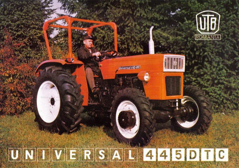 UTB U-445 echipat cu un motor diesel (3 cilindrii, 44 CP), o cutie de